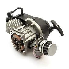 Mini Moto Quad Bike 49cc 2 Stroke Engine Black Pullstart Minimoto No Clutchbell