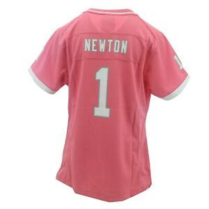 Carolina Panthers NFL Kids Youth Girls Size Cam Newton Pink Jersey New With Tags