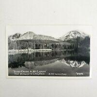 Vintage Chaos Crags & Mt Lassen Manzanita Lake California Postcard