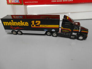 NASCAR Racing Champions Jimmy Spencer Meineke 12 Semi Truck & Trailer Coin Bank