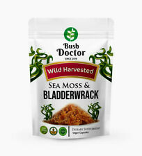 Wild Harvested Sea Moss /Irish Moss and Bladderwrack 200 Vegan Capsules Dr Sebi