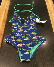 HOLISTER PALM TREE PATTERN SWIMMING COSTUME / SIZE XS / RRP £42 NEW WITH TAGS