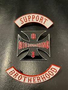 support 81 brotherhood BRM 1%ER ANGELS 99% HELLS vest jacket patch pin badges