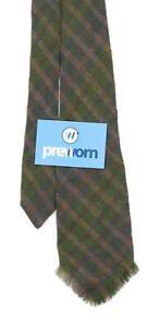 Vardoc Fabrics Mens Green Check 100% Wool Wide Fit Tie