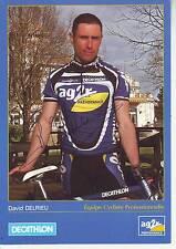 CYCLISME carte cycliste DAVID DELRIEU équipe AG2R signée