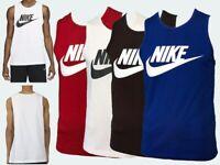 Genuine Nike Men's Sleeveless Vest Tank Top 100% Cotton Luxury Gym All Sessions