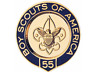 BOY SCOUTS OF AMERICA BSA OFFICIAL 55 YEAR VETERAN PIN OA JAMBOREE CAMP TRADING