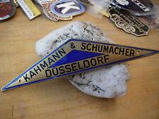 KAHMANN & SCHUMACHER DÜSSELDORF - Schild Plakette Händler Karosserie Emblem VW