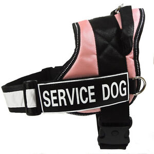 Reflective Service Dog Vest Harness THERAPY SECURITY Removable 2 Patches 4 Sizes