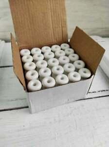 Set of 10 Vintage Look Ceramic Porselain Insulators Electric Fittings Fixtures.