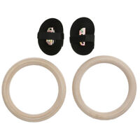 1 Pair Wooden Olympic Rings Gymnastic Exercise Training Equipment