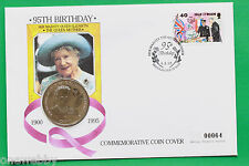 1995 Isle of Man Queen Mother 95th Cover B/UNC Isle of Man Crown SNo39016
