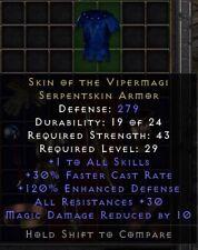 Vipermagi +30 All Res | Haut des Vipernmagiers | Diablo 2 Resurrected D2R SC PC