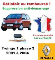 Boitier antidémarrage Supprime l'anti-demarrage des Renault Twingo 1 phase 3