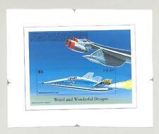 Palau #406 Aircraft Designs, Aviation 1v S/S Imperf Chromalin Proof