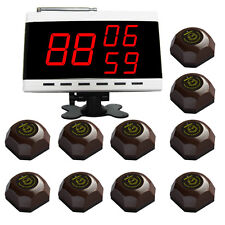 SINGCALL Wireless Nurse Calling Pager Systems,10 Waiter Button Bells,1 Receiver