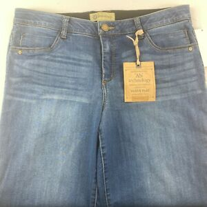 """Democracy Blue Jeans Shorts Bermuda """"Ab Technology"""" Mold & Hold Choose Your Size"""