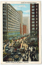 State and Madison Streets Corner, Detroit, USA, sent in 1924 to Estonia