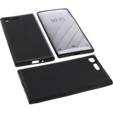 BOLSA para Sony Xperia X1 2018 Funda protectora de móvil TPU GOMA FUNDA NEGRA
