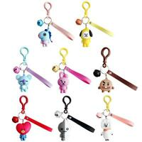 Cute Women Men Cartoon Character Keychain Keyrings Bags Pendant Birthday Gifts