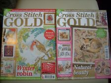 Issues 115 and 140 Cross Stitch Gold magazine, both Christmas issues