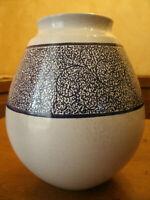 Vaso Ceramica FAENZA - Marchio,Firma Made in Italy Bianco,Blu 17x17 cm h 21 cm