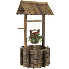 Flower Planter Wishing Well Bucket Patio Deck Garden Outdoor Home Decor Wooden