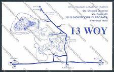 Verona Montecchia Crosara Radioamatori cartolina D0989 SZA