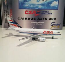 Gemini Jets GJCSA330 CSA Czech Airlines OK-WAA 1/400 scale Airbus A310 model
