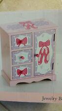 "Brand New!! Girls Musical Jewelry Box ""ballet slipper design w/pink lining"""
