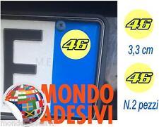 Adesivo targa replica 46 Valentino Rossi TUNING AUTO Sticker 2 pz. 3,3 cm cad.