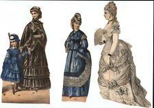 Vintage Homemade Victorian Era Paper Dolls