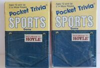 LOT 2 VTG DECKS PACKS POCKET TRIVIA CARDS SPORTS HOYLE NEW IN PACKAGE 7052 COKE