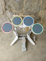 Wii Rock Band Wired Drums Nintendo Lot Bundle