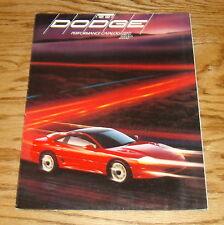 Original 1991 Dodge Performance Foldout Sales Brochure 91 Stealth Spirit Shadow