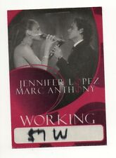 Jennifer Lopez & Marc Anthony 2007 Tour Working Crew Satin Backstage Pass, Red