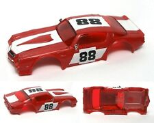 1980 Ideal Tcr Chevy Camaro Z-28 Red & White #88 Slot Car Body4680-5