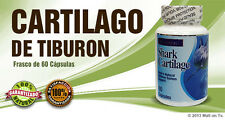 Shark Cartilage  60 caps Cartilago de Tiburon  glucosamina dieta huesos Health