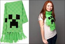 J!nx Minecraft Creeper Face Knit Acrylic Green Fringe Scarf Jinx Licensed 5 Feet