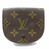 Authentic Louis Vuitton Coin Purse Porte Monnaie Gousset Browns Monogram 133800