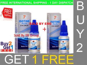 ISOTINE PLUS EYE DROPS BEST TREATMENT CATARACT,MYOPIA AND buy 2 get 1 free 10 ml