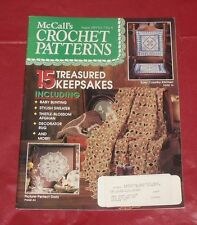 Vtg McCall's Crochet Patterns Magazine August 1993 Back Issue Afghan Rugs
