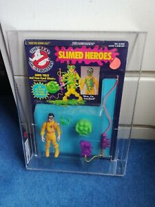 SLIMED HEROES LOUIS TULLY - Vintage The Real Ghostbusters - MOC - UKG Graded 80%