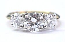 Tiffany & Co 18Kt Three-Stone Round Cut Diamond Engagement Ring E/VS1-VS2 2.06Ct