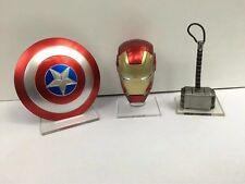 Captain America Shield IronMan Helmet Thor Hammer Avengers Weapons toy Gift 3pcs