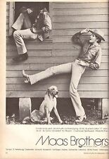 1979 Maas Brothers Tampa Florida Cowboy Print Ad Advertisement Vintage VTG 70s