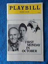 First Monday In October - Majestic Theatre Playbill - September 1978 - Fonda