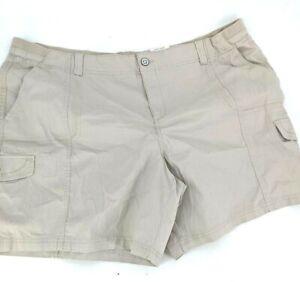 Style & Co Women's Plus Size Cargo Shorts - Tan/Beige - Size: 24W