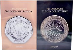 £2 50p Coin Collectors Albums 2020 Twin Pack Beatrix Potter RAF Paddington