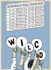 Wilco Gig Poster, UK Fall Tour 2010 (Original Silkscreen) 17 x 24' Print